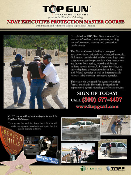 Executive Protection Security Training At Top Gun Training Centre